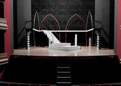 Escenografía para el Teatro Gayarre