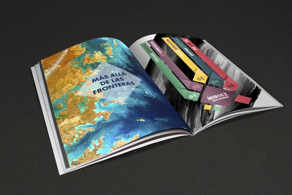 diseño gráfico de revista