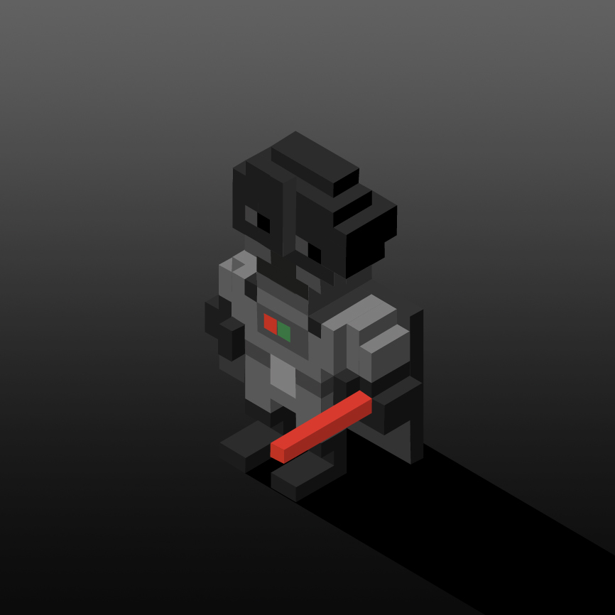 personajes en isometrico dark