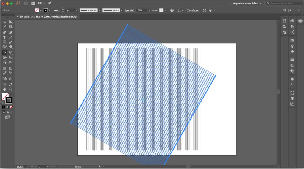 décimo paso para crear una malla isométrica con illustrator
