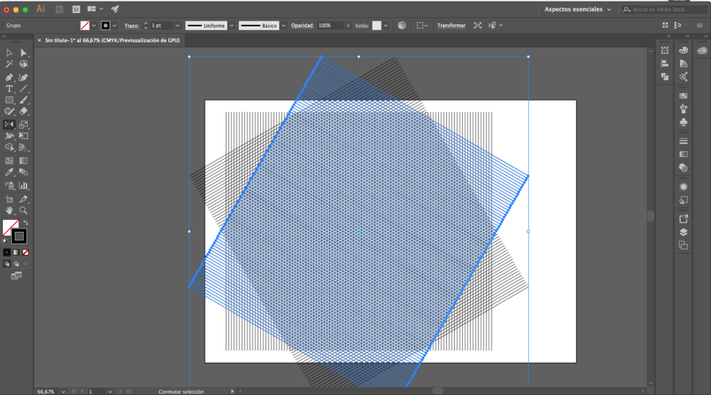 duodécimo paso para crear una malla isométrica con illustrator