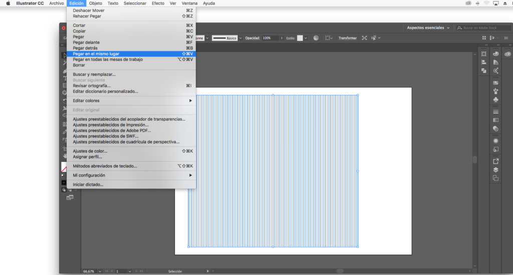 septimo paso para crear una malla isométrica con illustrator