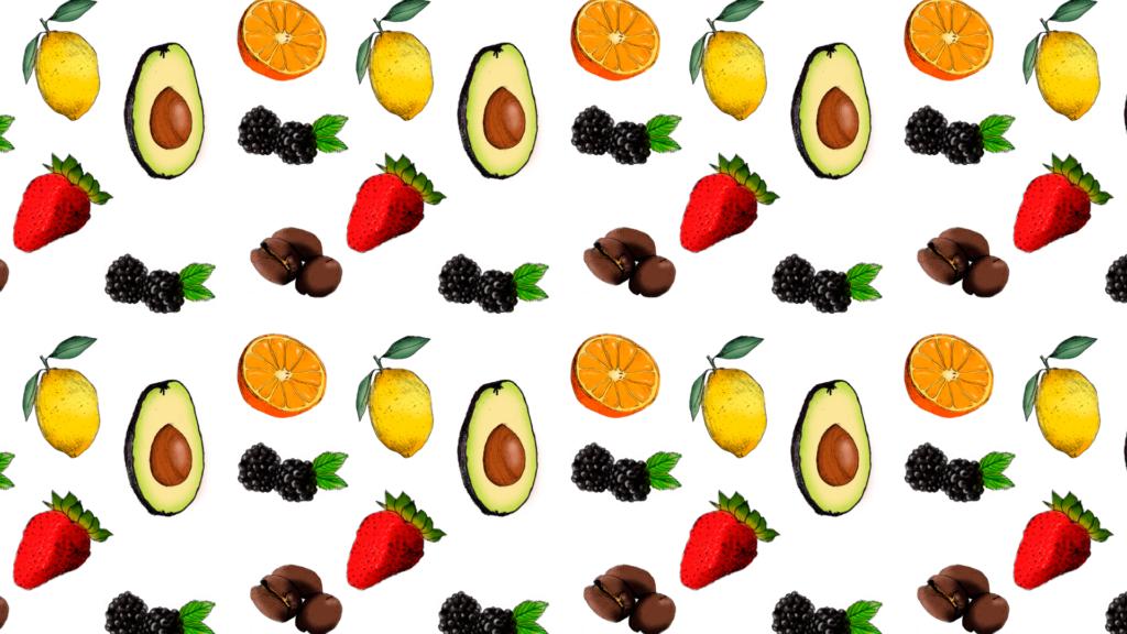 Parton de frutas dibujos de frutas