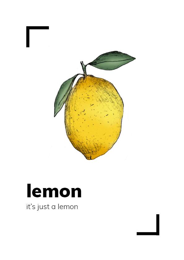 dibujos de frutas limon