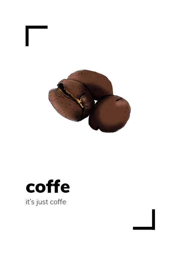 dibujos de frutas café